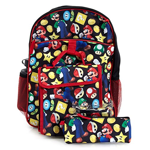 Super Mario Backpack & Lunch Bag 5-piece Set