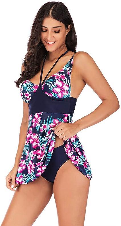 JYXZ Bikini para Mujer Trajes de baño Bañador Talla Extra Imprimir ...
