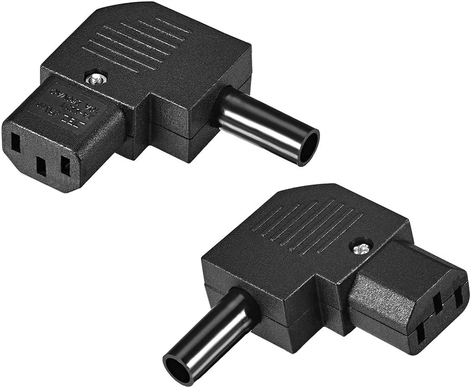 uxcell AC110V-250V 10A IEC320 Male C14 to Female C13 Power Socket Adapter for Cord Connecting 2 Pcs