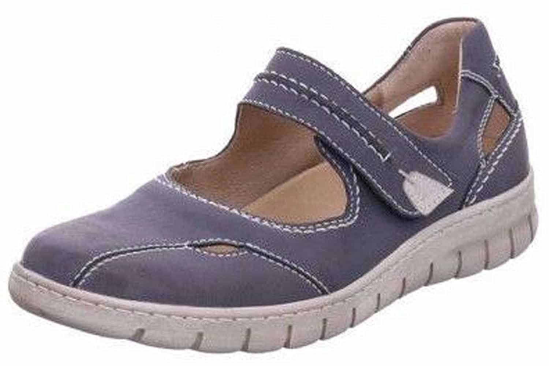 Josef Seibel - Zapatos de Cordones de Piel Lisa para Mujer Azul Jeans/Kombi 42 EU