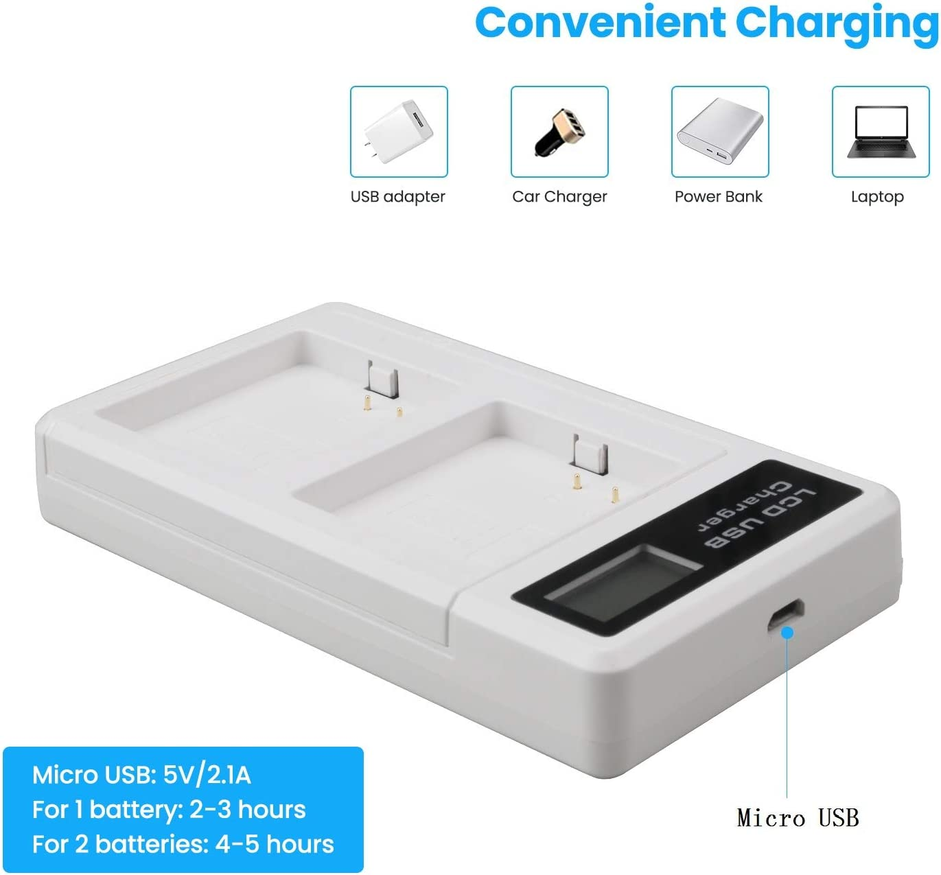 REYTRIC Battery Charger for Arlo Batteries Arlo Go and Arlo Security Camera Battery Arlo Pro 2 Dual Charging Station Compatible with Arlo Pro