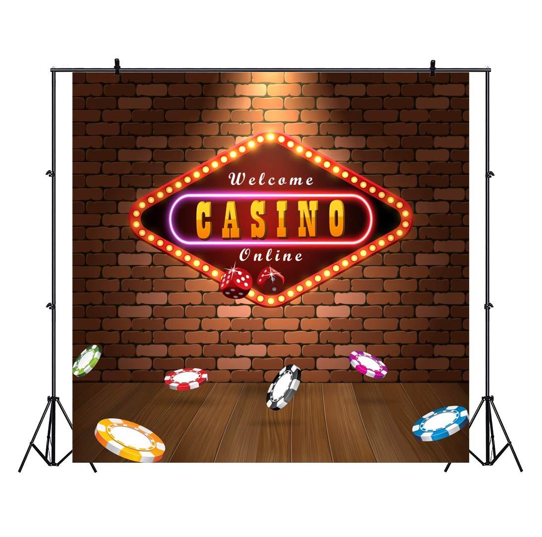 OERJU 3x3m Casino Fondo Brillante Casino Tablero de luz ...