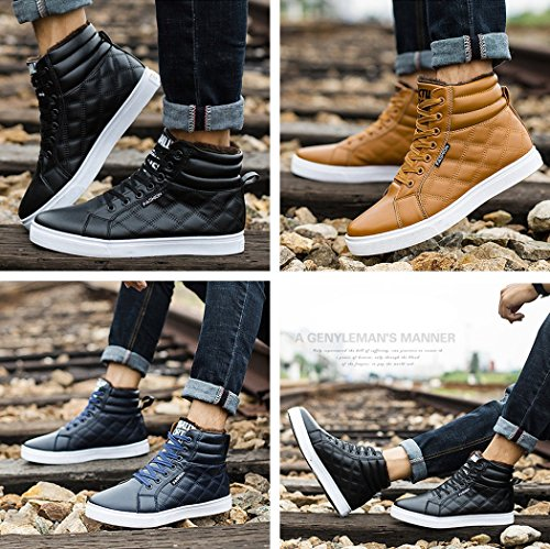 Gaorui Hombres Winter Botas Botas De Nieve Lace Up Tobilleras Sneakers High Top Zapatos Con Forro De Piel Chukka Bota Yellow
