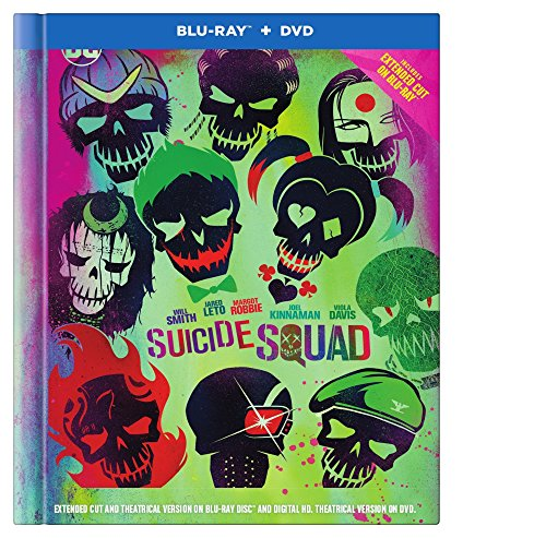 Suicide Squad Extended Cut Special Edition  Blu Ray   Dvd   Digital Copy   64 Page Collectors Book  Audio   Subtitles  English  Spanish  French   Portuguese