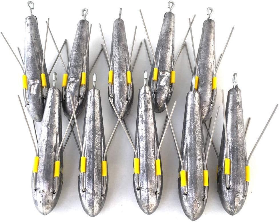 BZS Plomos para Pesca «Surf Casting», Juego de 10uds, Disponible en Unidades de 85g, 113g, 142g, 170g y 198g