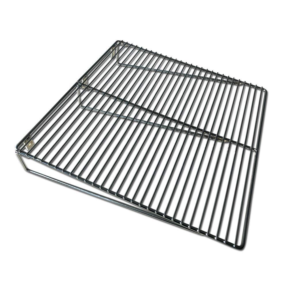 LavaLock® 18'' x 18'' BBQ Smoker Pit Wire Side Shelf Bolt on Expander Work Surface