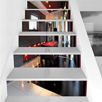 Amazon Com Stair Stickers Wall Stickers 6 Pcs Self Adhesive Modern