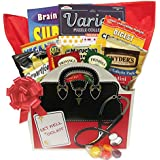 Soup and Snacks Get Well Toolkit: a Get Well Gift Basket with Puzzle Books and Snacks for Men and Women