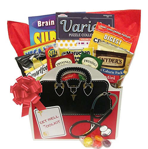 Get Well Toolkit a Get Well Gift Basket with Puzzle Books for Men and Women Arrives Wrapped and Ready to Give by Gifts Fulfilled (Get Well Baskets For Guys)