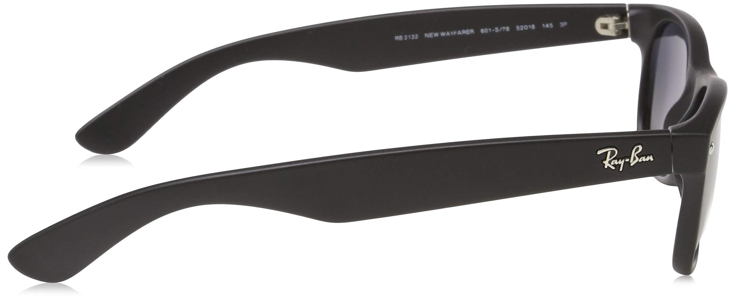 Ray-Ban Unisex New Wayfarer Polarized Sunglasses, Black/Polarized Blue/Grey Gradient, Blue Gradient Grey, 55mm by Ray-Ban (Image #3)