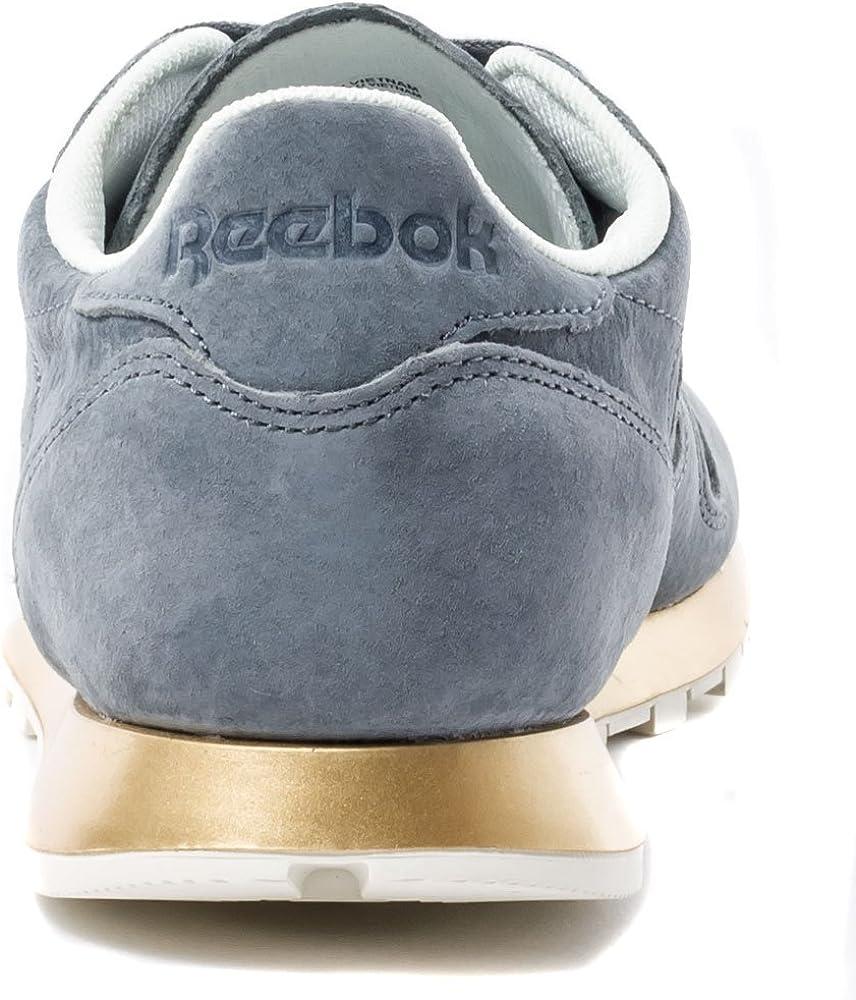 Reebok Classic Leather Damen Sneakers Grey 8.5 UK: Amazon
