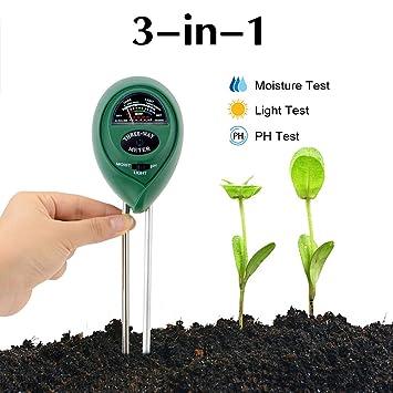 Abafia Bodentester 3 In 1 Bodenmessgerat Ph Wert Digitales Boden Feuchtigkeit Meter Fur Pflanzenerde Garten Bauernhof Rasen Kein Batterien
