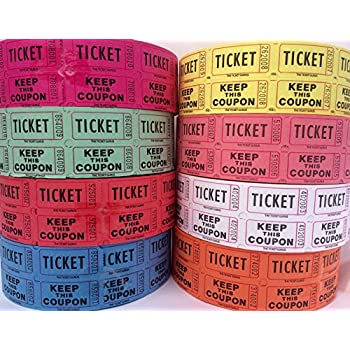 AmazonCom  Raffle Tickets   Rolls Of  Double Tickets
