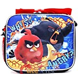 Angry Birds Movie School Lunch Bag Insulated Snack Box Why So Angry-black