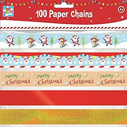 100 Assorted Make Your Own Christmas Paper Chains Diy Decorations