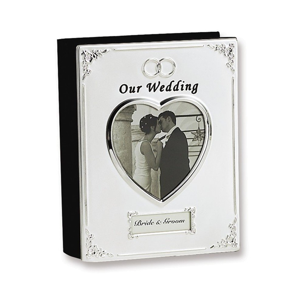 Silver-plated Our Wedding (Holds 40-4x6 Photos) Photo Album