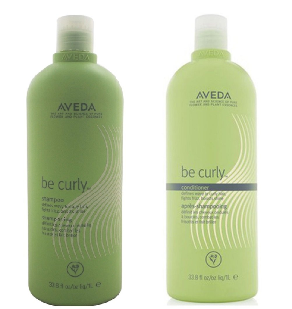 Aveda Be Curly Shampoo & Conditioner Liter 33.8 Oz Duo Set by Aveda (Image #1)