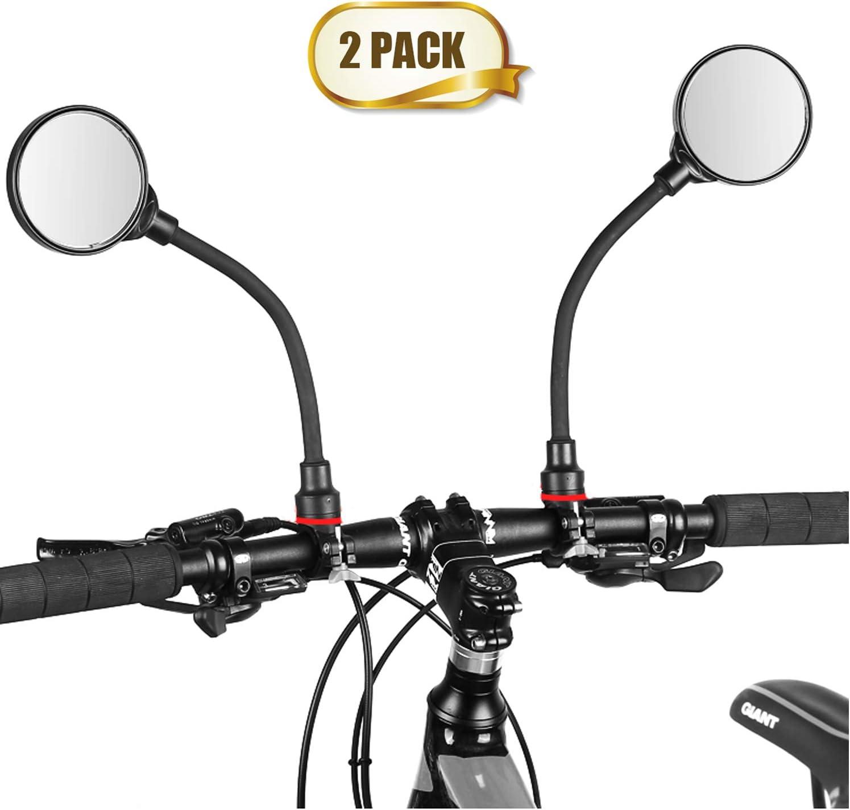 Universal Rotary Handlebar Glass Plug Rear View Mirror Road Bike Bicycle