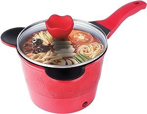 RRH Electric Mini Hot Pot - Non-Stick Rapid Noodles Cooker - 1.5L Electric Kettle for Steak, Egg, Fried Rice, Ramen, Oatmeal, Soup with Temperature Control