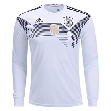 8db5d826012d adidas Men s Germany Long Sleeve Home Soccer Jersey Climacool 2018 World  Cup (Small) White