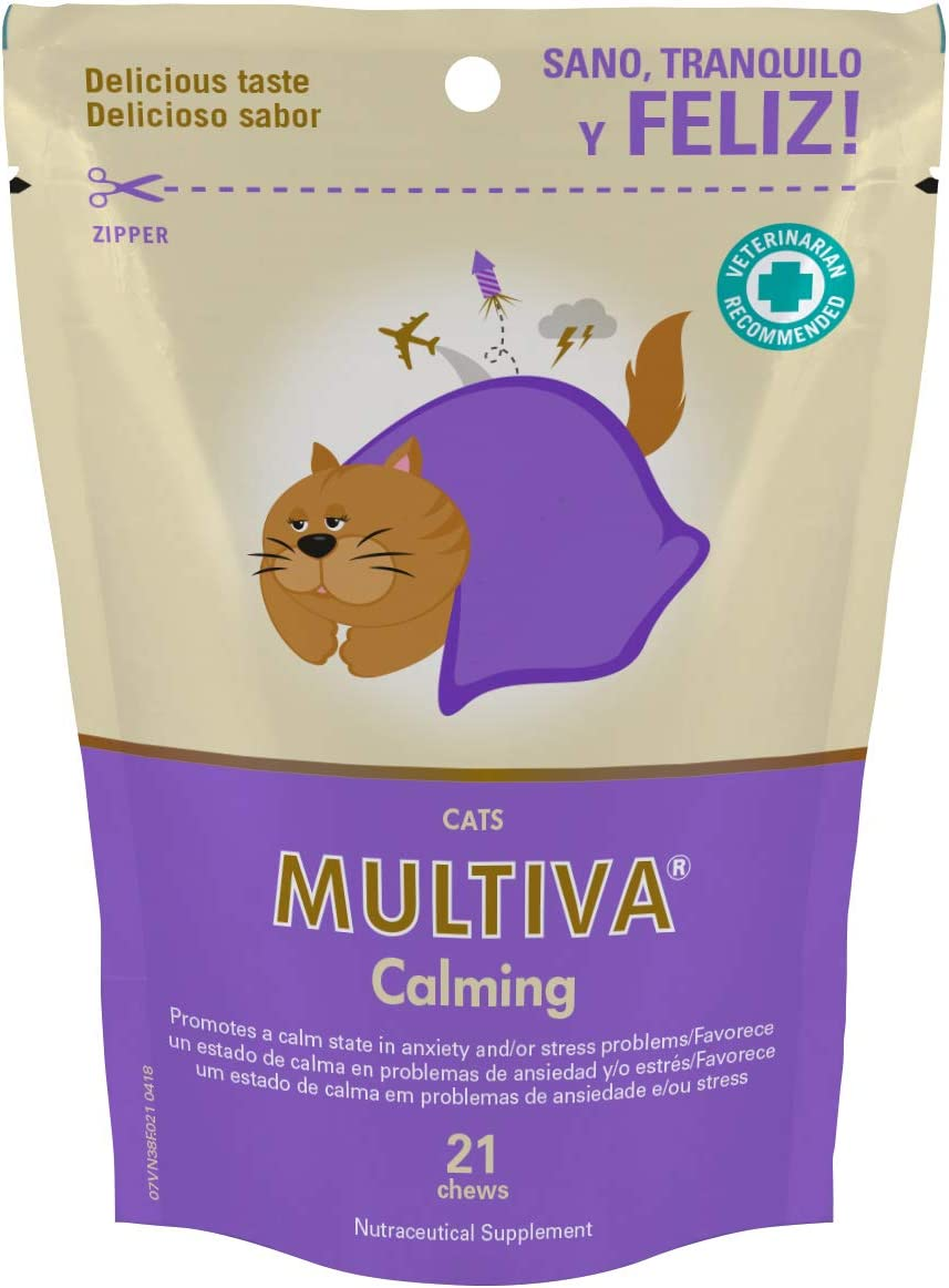 Masticables antiestrés para calmar gatos