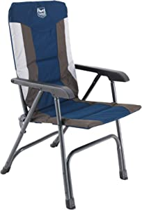 TIMBER RIDGE High Back Folding Camping Chair for Outdoor Garden Patio Lawn, Support up to 300 lbs (Blue)