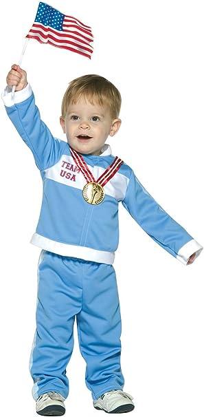 Amazon.com: bebé Futuro Oro Medalist Costume, 3T-4T, Multi ...