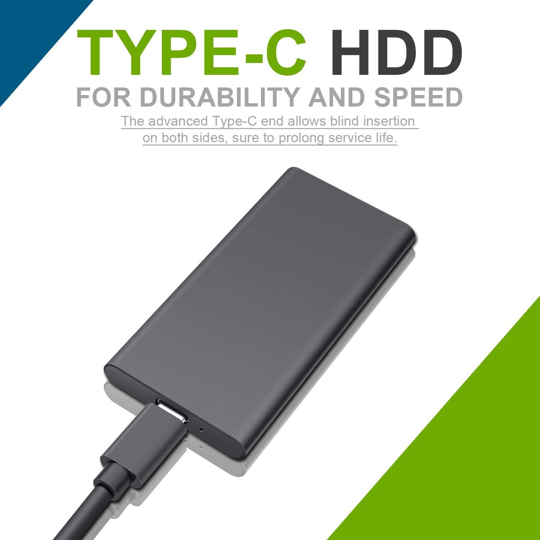Xbox One Desktop Type C USB3.1 Disco Duro para PC Mac Hattahh Disco Duro Externo Port/átil 2TB 2 TB, Rojo Xbox