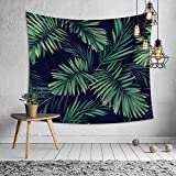 Tapestry Wall Hanging - Wall Tapestry Palm Tree Leaf Tapestry Tropical Plants Tapestries for Bedroom Living Room Dorm (59'' x 51'')