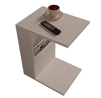 Bono Table D Appoint Table Basse Bout De Canape Table Cafe Moderne Dans Un Design A La Mode Blanc