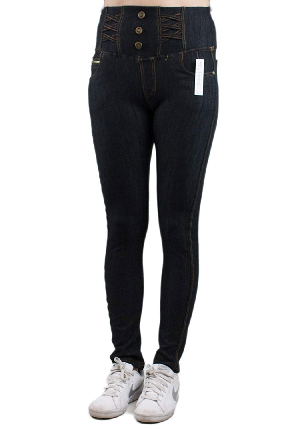 Barbra Collection Women's High Waist Jeggings with Fleece Lining