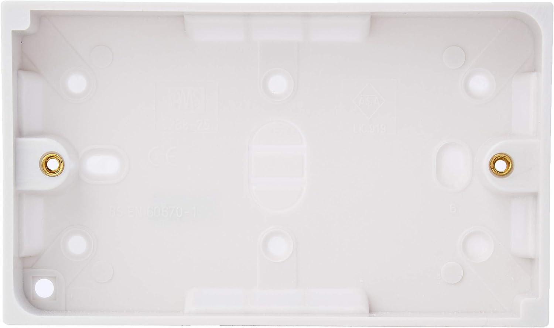 Bulk Hardware BH02677 Plaque vierge double Blanc
