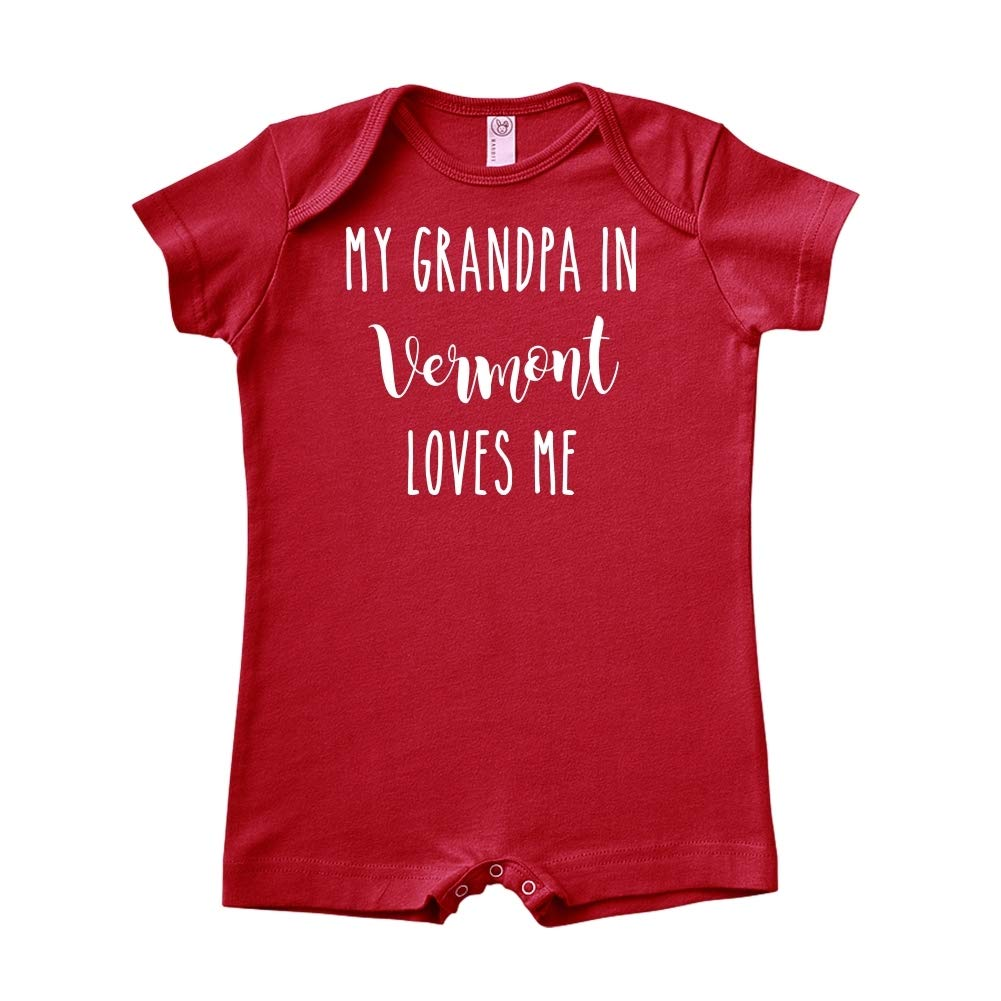 My Grandpa in Vermont Loves Me Baby Romper