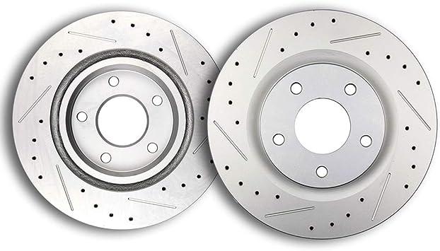 Dodge Mitsubishi Base on Chart Front Brake Rotors /& Pads For Chrysler Jeep