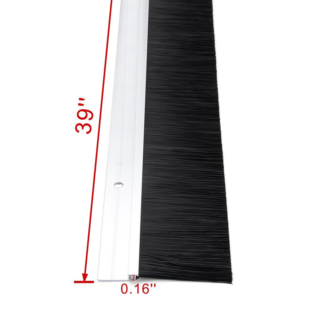 sourcingmap/® Parte inferiore porta spazzare tono dellargento in lega alluminio w 2 pollici spazzola 40 pollici x 2,6 pollici