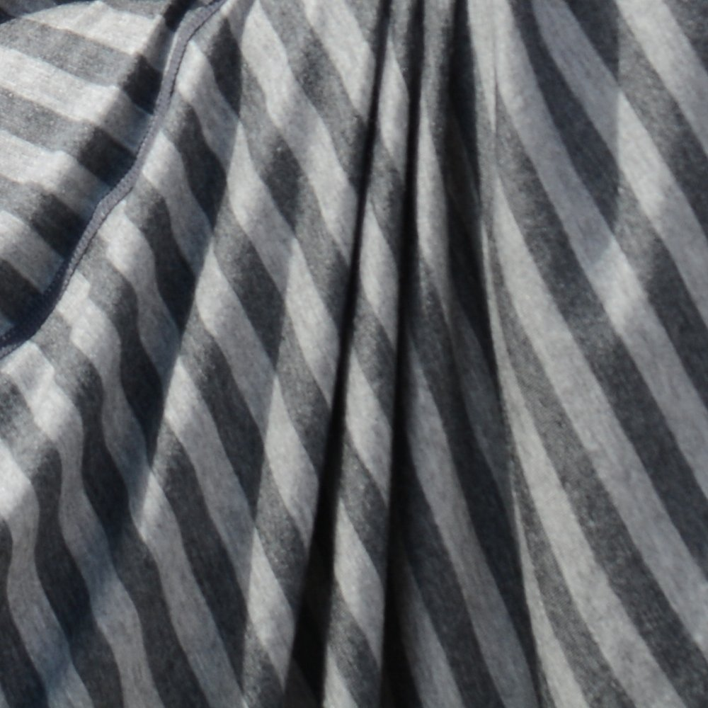Fashionable Nursing Covers by DRIA - 'The All-In-One, Stroller Cover, Car Seat Cover' - Made in USA from Premium Four Way Stretch and Breathable Modal Fabric (Oslo Style: Grey Stripe) by DRIA Cover (Image #2)