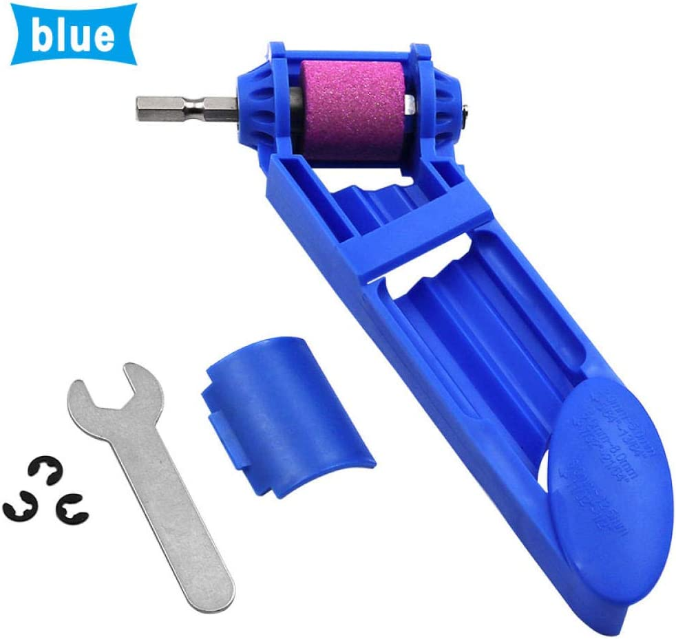 Juegos de brocas 2-12 5mm Portable Drill Bit Sharpener Corundum Grinding Wheel for Grinder Tools for Drill Sharpener Power Tool-blue