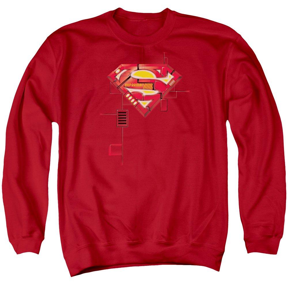 Superman Herren Super Mech Shield Sweater