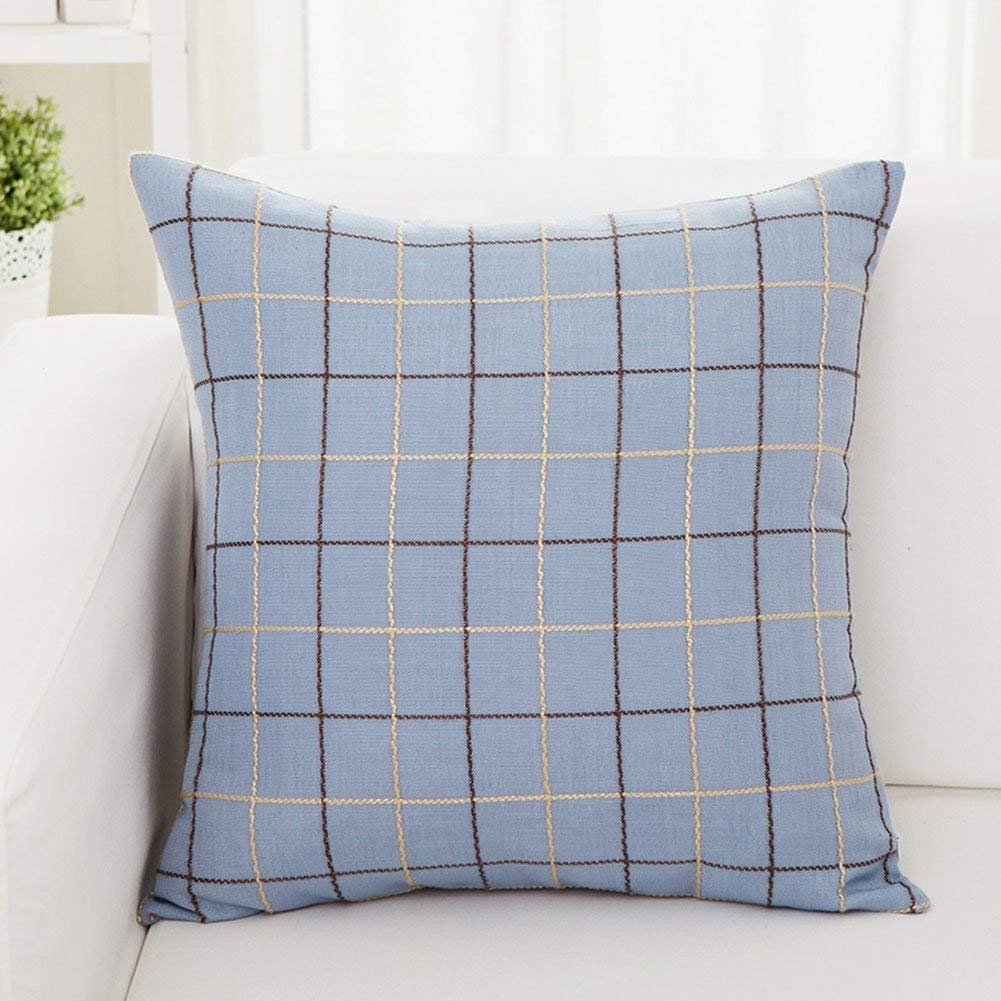 Soft Pillow Pillow Cover Cotton Solid Color Bedside Chair Household Waist Pillow 45 45cm (Color : Style 5)