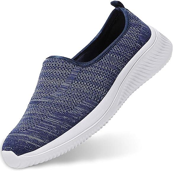 Gaatpot Zapatillas Casual para Mujer Mesh Calzados para Correr en Asfalto Zapatillas de Estar por Casa Calzado Deportivo de Exterior Azul 34.5/35EU: Amazon.es: Zapatos y complementos