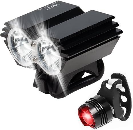Watt Luz LED para Bicicleta, Combo de luz para Bicicleta: Faro ...