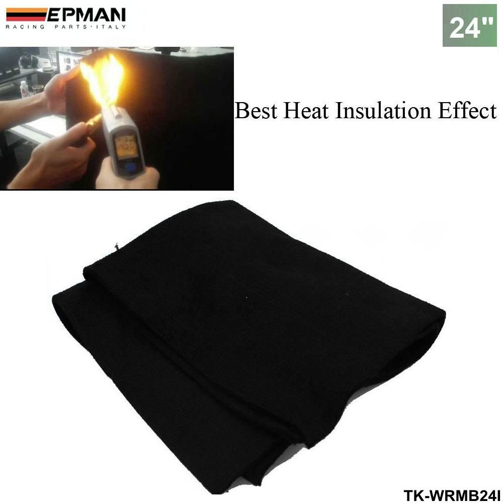 EPMAN Car 24''x 24'' x1/4 Carbon Fiber Welding Blanket Torch Shield Plumbing Heat Sink Slag Fire Felt (Black) by EPMAN