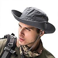 SIYWINA Chapeau Homme Randonnée ete Anti UV Chapeau de Soleil Homme Chapeau De Pêcheur