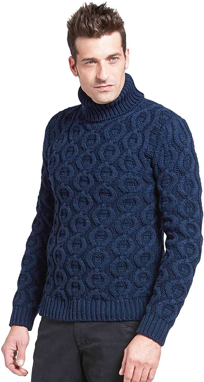 Men's Vintage Sweaters, Retro Jumpers 1920s to 1980s BRUNELLA GORI Mens roll Neck Jumper in Merino/Cashmere  AT vintagedancer.com