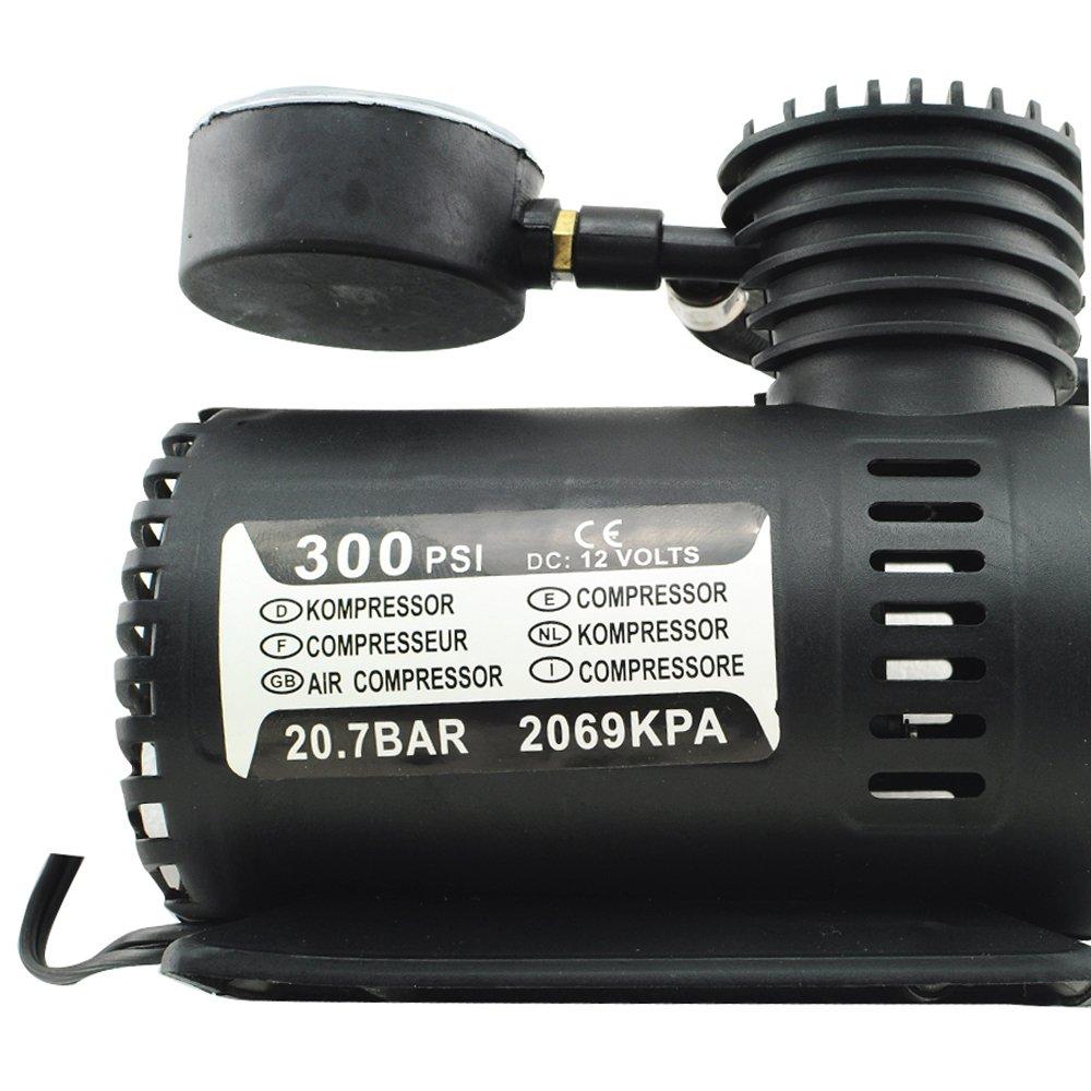 Compresor de aire portátil eléctrico por scenstar, 2 V 300 PSI Bomba para neumáticos inflador eléctrico para coche Auto compresor de aire rápido y fácil de ...