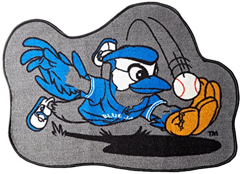 FANMATS 18090 Team Color Approx. 3' x 4' Toronto Blue Jays Mascot Mat