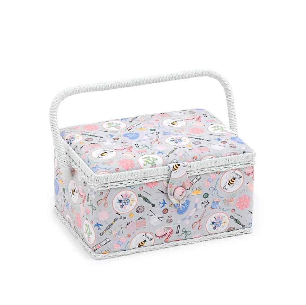 Hobby Gift 'Homemade' Medium Rectangle Sewing Box 18.5 x 26 x 15cm (d/w/h) HobbyGift