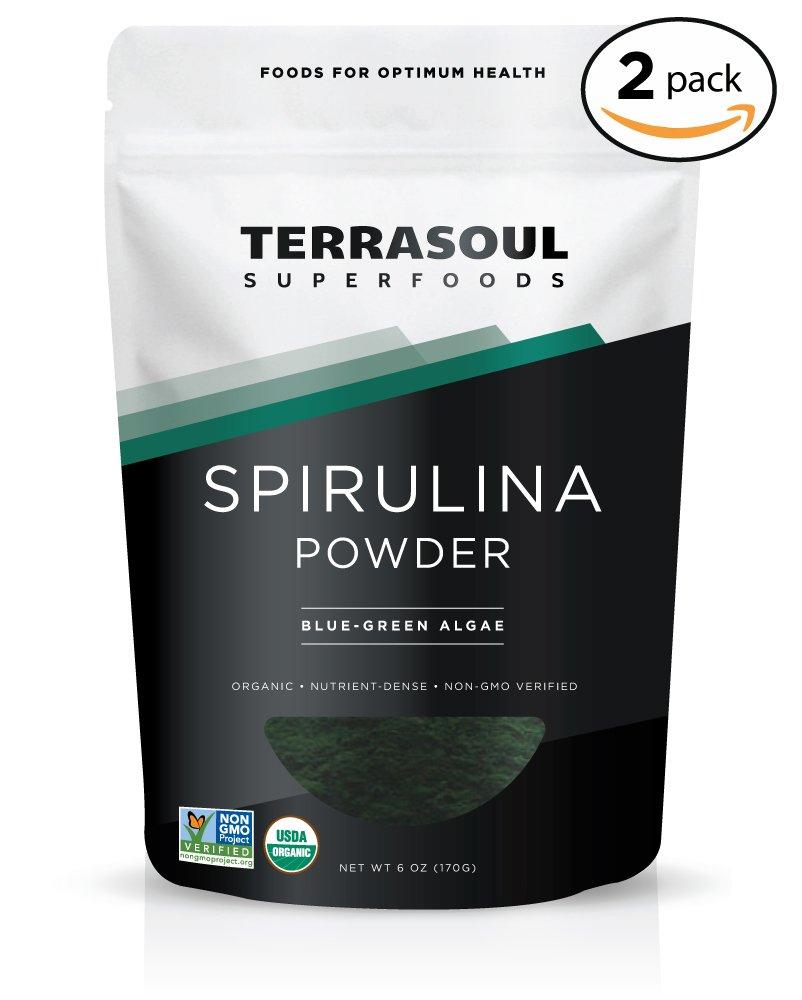 Terrasoul Superfoods Spirulina Powder (Organic), 12 Ounces