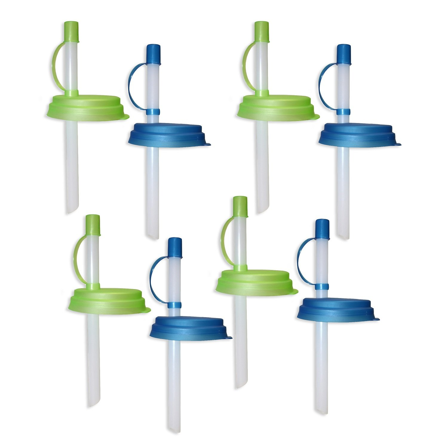 Jokari 8 Count Sip and Seal Soda Straws for Canned Beverages