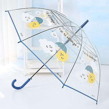 Paraguas plegable transparente femenino Corea Estudiante fresco Princesa coreana Niño adulto largo de dibujos animados lindo